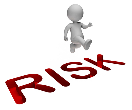 unsafe: Risk Overcome Meaning Hard Times And Difficult 3d Rendering