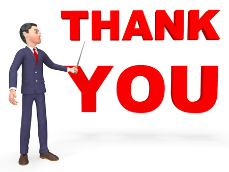 many thanks: Thank You Indicating Appreciate Business And Render 3d Rendering