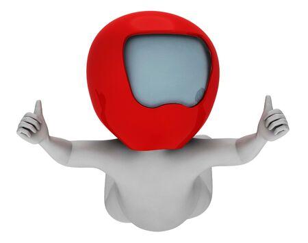 caida libre: Paracaidismo caracteres que representa la caída libre y render 3d