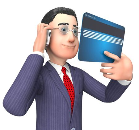 bought: Credit Card Indicating Business Person And Illustration 3d Rendering