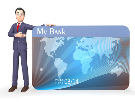 bought: Credit Card Meaning Shopping Payment And Banking 3d Rendering Stock Photo