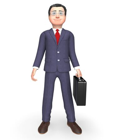 waited: Standing Businessman Showing Waiting Waited And Stands 3d Rendering