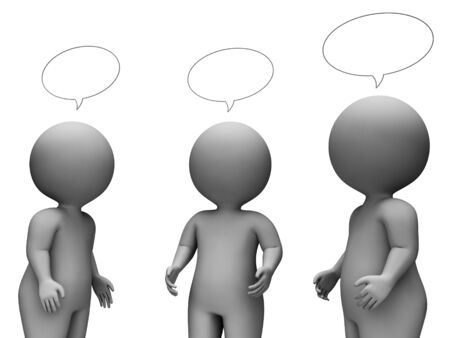 correspond: Speech Bubble Indicating Copy Space And Illustration 3d Rendering Stock Photo