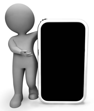 world wide: Online Smartphone Meaning World Wide Web And Website 3d Rendering