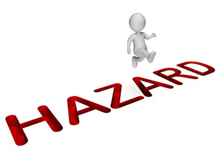 overcome: Hazard Overcome Indicating Danger Hurdle And Risks 3d Rendering Stock Photo