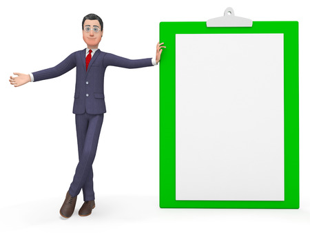 entrepreneurial: Check Marks Meaning Business Person And Entrepreneurial 3d Rendering Stock Photo