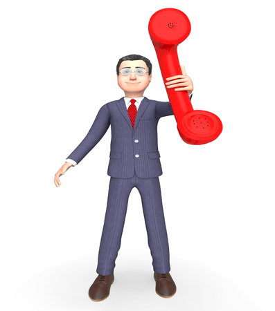 correspond: Phone Talking Representing Call Us And Talks 3d Rendering Stock Photo