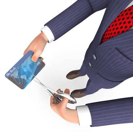 reckless: Credit Card Meaning Business Person And Loan 3d Rendering