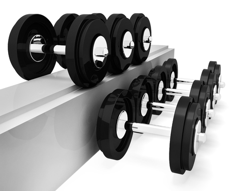fit: Exercise Gym Indicating Getting Fit And Gymnasium 3d Rendering