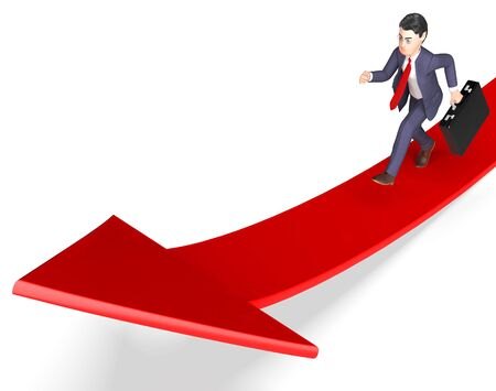 aims: Businessman Aims Meaning Ahead Ambition And Arrows 3d Rendering Stock Photo
