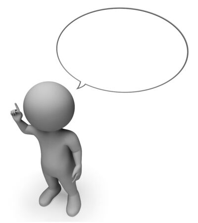correspond: Speech Bubble Representing Copy Space And Talked 3d Rendering