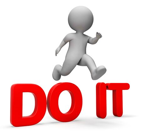 attaining: Do It Representing Achieving Motivating And Jump 3d Rendering