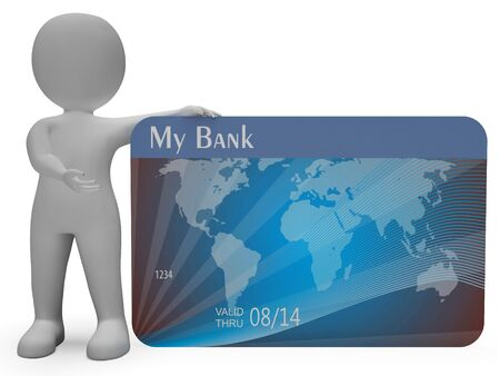 bought: Credit Card Indicating Loan Transaction And Problem 3d Rendering Stock Photo