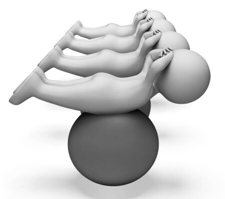 exercise ball: Exercise Ball Indicating Get Fit And Exercising 3d Rendering