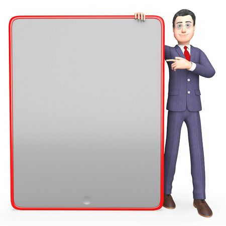 entrepreneurial: Character Blank Representing Business Person And Message 3d Rendering