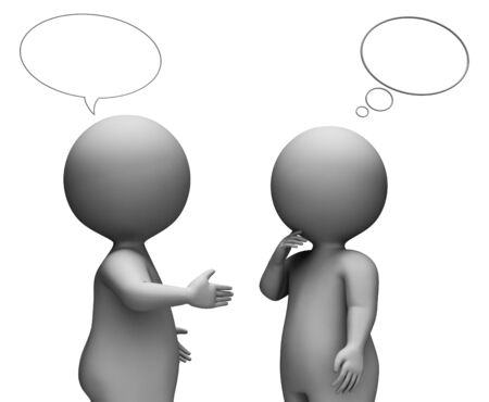correspond: Speech Bubble Indicating Chatting Dialogue And Speak 3d Rendering Stock Photo
