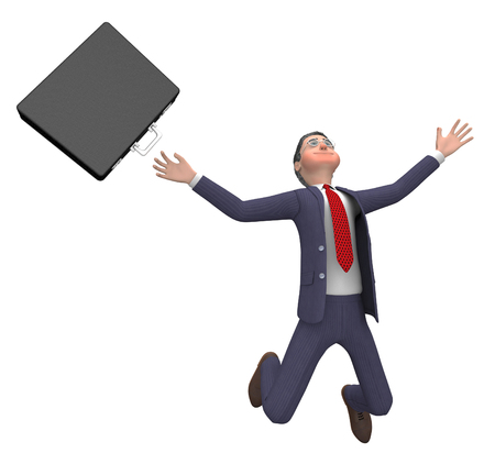 hurt: Falling Businessman Meaning Hurt Illustration And Danger 3d Rendering Stock Photo