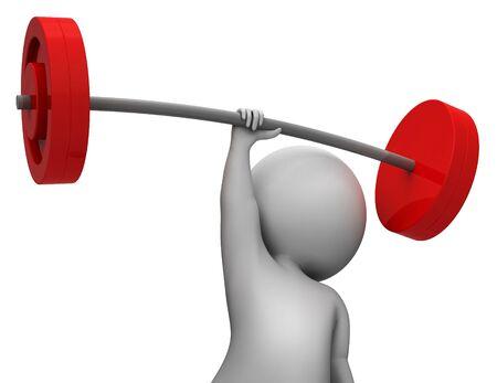 actividad fisica: Levantamiento de pesas Significado Actividad F�sica y Salud Representaci�n 3d Foto de archivo