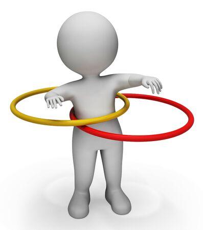 actividad fisica: Significado del aro de la Actividad F�sica y gimnasios representaci�n 3d Foto de archivo