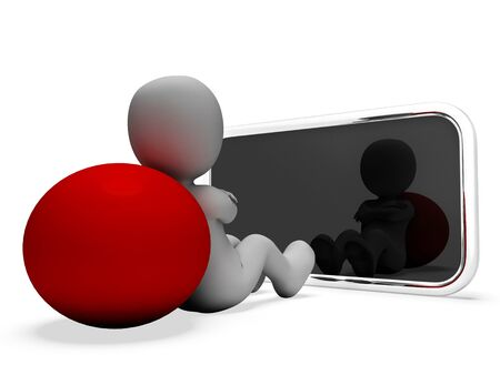 world wide: Online Smartphone Representing World Wide Web And Website 3d Rendering