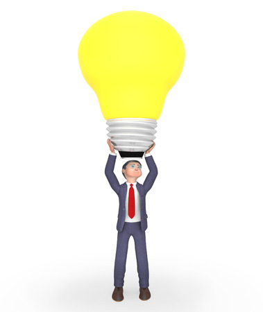human source: Lightbulb Businessman Meaning Power Source And Contemplate 3d Rendering Stock Photo
