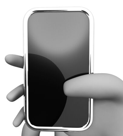 wide: Online Smartphone Indicating World Wide Web And Copy Space 3d Rendering Stock Photo