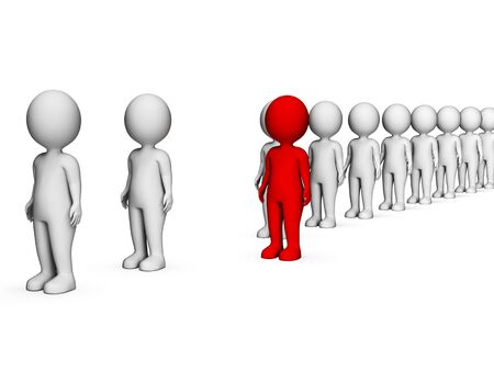 contradict: Different Unique Showing Stand Out And Contradict 3d Rendering Stock Photo