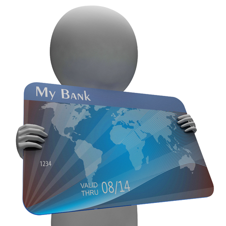 buyer: Credit Card Showing Crisis Debt And Buyer 3d Rendering Stock Photo