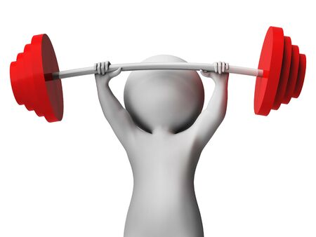 toughness: Weight Lifting Meaning Fitness Center And Toughness 3d Rendering