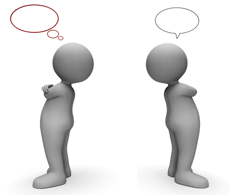 correspond: Speech Bubble Meaning Talk Network And Speaking 3d Rendering