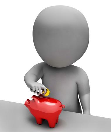 saved: Money Piggybank Meaning Moneybox Saving And Prosperity 3d Rendering