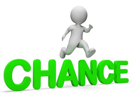 indicating: Chance Get Indicating Jump Betting And Illustration 3d Rendering Stock Photo