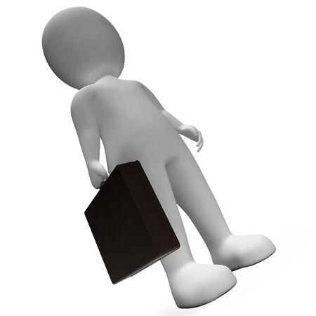 entrepreneurial: Businessman Character Representing Stood Entrepreneur And Render 3d Rendering Stock Photo