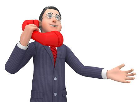 correspond: Talking Call Indicating Business Person And Talked 3d Rendering