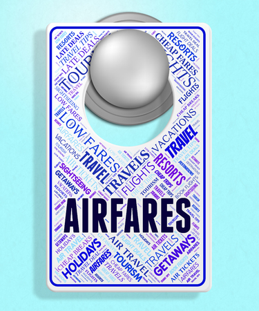 cost estimate: Airfares Sign Representing Current Price And Discount