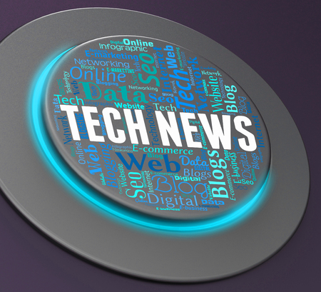 push button: Tech News Showing Push Button And Switch 3d Rendering