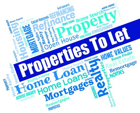 let: Properties To Let Representing For Rent And Property