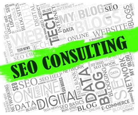 consulted: Seo Consulting Representing Seek Advice And Websites Stock Photo