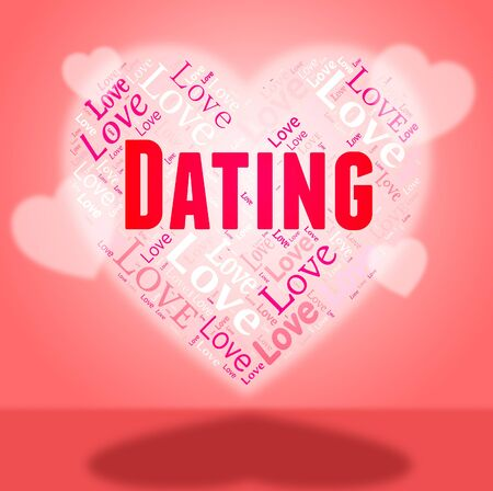 sweethearts: Dating Heart Indicating Passionate Valentine And Internet