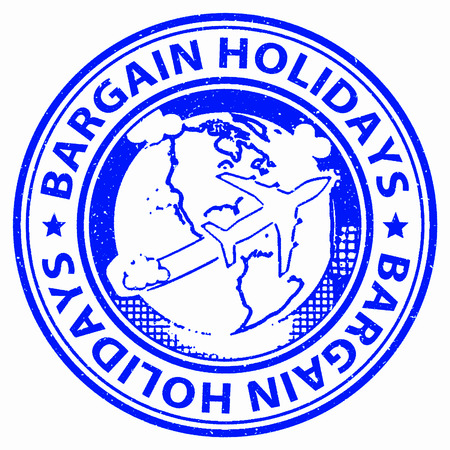 bargain: Bargain Holidays Representing Discounts Promotion And Sale