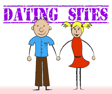 romantic date: Dating Sites Meaning Date Websites And Love Stock Photo