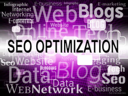 search engines: Seo Optimization Indicating Search Engines And Online