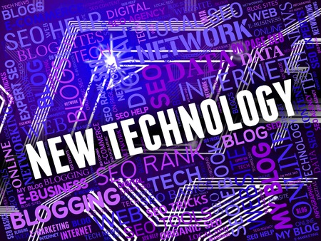 newsfeed: New Technology Meaning Bulletin Breaking And Digital Stock Photo