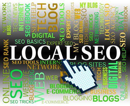 Seo local Représentant Search Engine Et Www Banque d'images