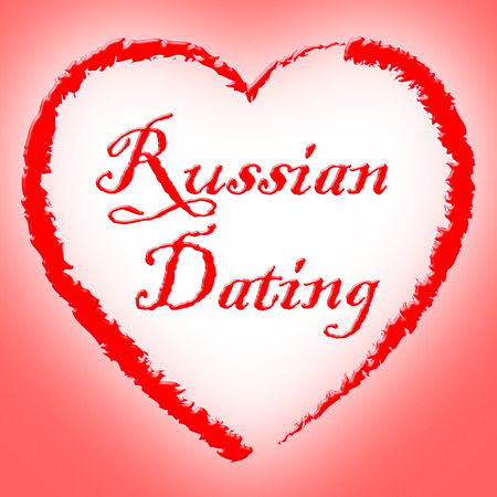 sweethearts: Russian Dating Meaning Network Sweethearts And Romance Stock Photo