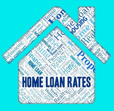 loaning: Home Loan Rates Showing Lends Borrower And Loaning