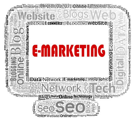 emarketing: Emarketing Computer Representing Web Site And Www