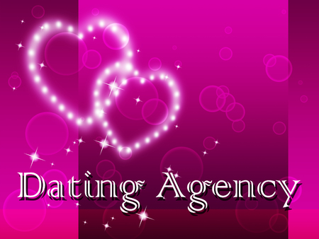 sweethearts: Dating Agency Indicating Partner Romance And Relationship Stock Photo