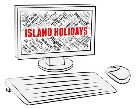 vacationing: Island Holidays Representing Getaway Vacationing And Vacation
