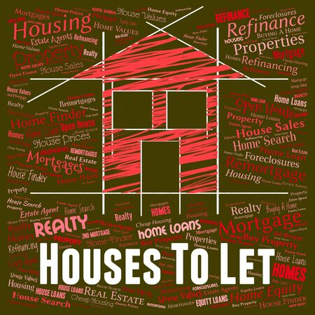 let: Houses To Let Indicating For Rent And Residential